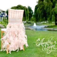 Chair Pad Covers Wedding Revolving Rate Bridal Cover Ruffle Decoration Ready To