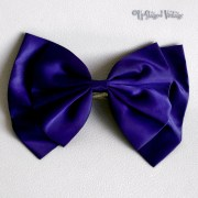 vintage 1980s indigo blue bow hair