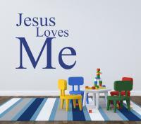 Kids Playroom Wall Decals Jesus Loves Me by ElaineDavidsDesign