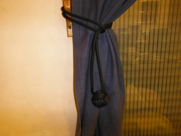 Decorative Curtain Tie- Rope Loops With Monkey Fist Knots