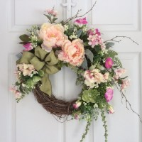 Spring Wreaths-Hydrangea Wreath-Front Door Decor-Seasonal