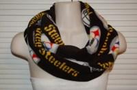 Black Steelers Scarf Steelers Fleece Scarf Steelers Infinity