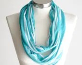 SCARF, Infinity Scarf, Blue Scarf. Blue Infinity Scarf, Stripe Scarf, Striped Scarf, Summer Scarf, Scarfs, Scarves, Circle Scarf