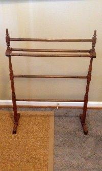 Vintage Standing Wooden Towel/Quilt Rack by SeldomSeenVintage