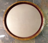 Inverted Wine Barrel Mirror by alpinewinedesign on Etsy