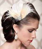 ivory bridal head piece champagne