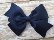 4 navy blue hair bow