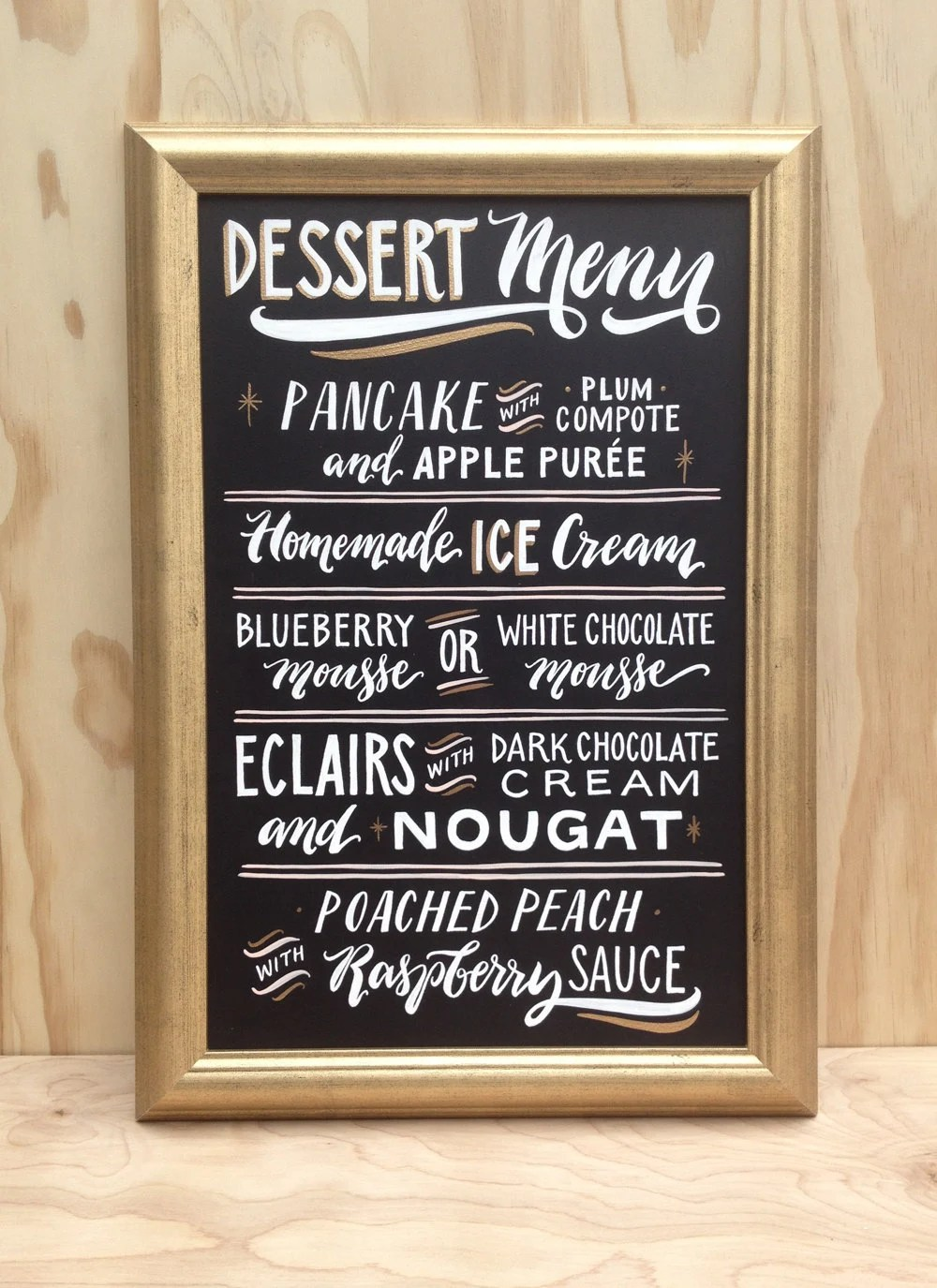 Wedding Sign Dessert Table Sign Menu featuring Personalized
