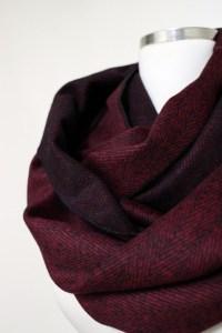 Cashmere Burgundy Herringbone Infinity Claret Red Women by ...
