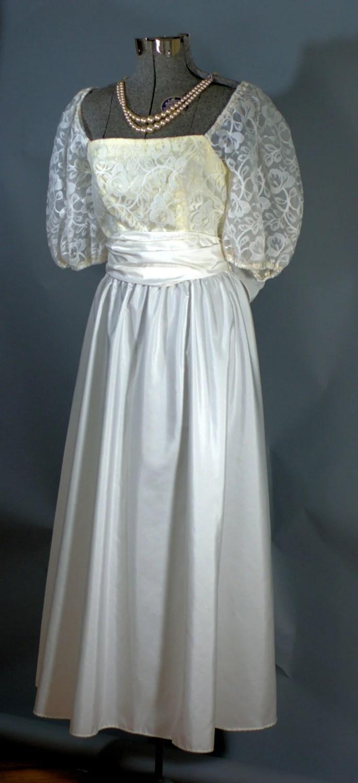 1980s Lace Prom Dress Vintage 1980s Debutante Prom