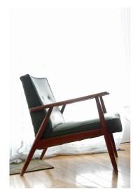 Kroehler Mid Century Lounge Chair / Green vinyl