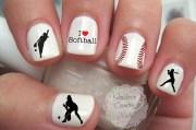 sports softball nail art decals