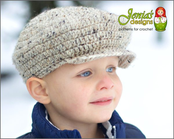 Crochet Pattern Scally Cap Hat Baby Infant