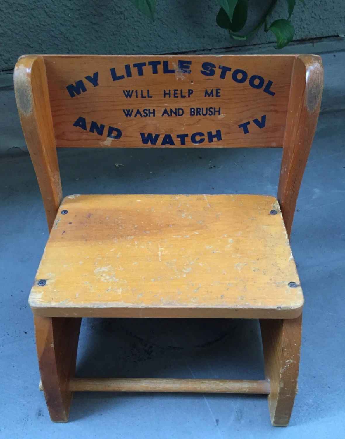 Wooden Step Stool Chair Antique Vintage Wooden Child Seat Step Stool Child Folding