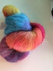 rainbow mohair yarn hand maiden