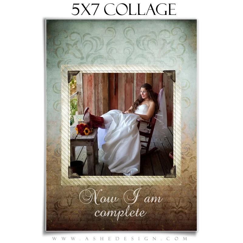 Wedding Collage SOMETHING OLD 1 5x7 Digital Photoshop