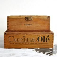 Cosco Kitchen Stool Chair Red Swivel Vintage Wood Cigar Boxes, Keepsake Box, Trinket Industrial Storage – Haute Juice