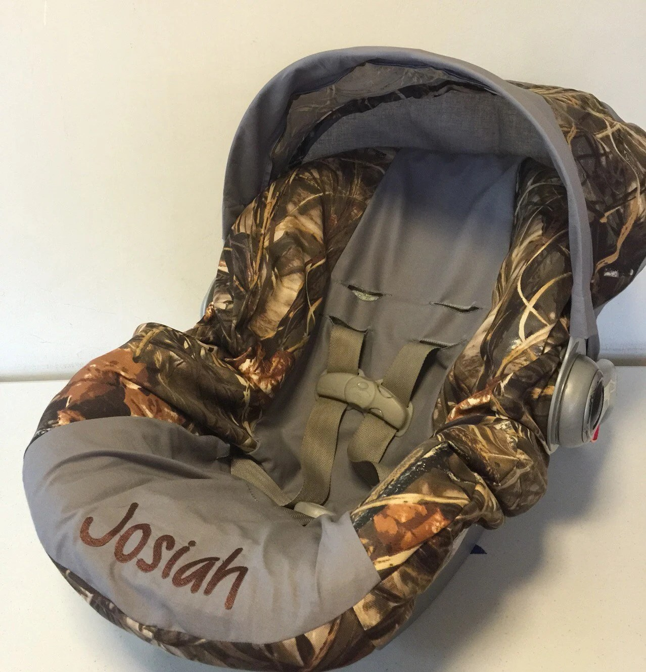 MAX 4 advantage CAMO with gray Infant Car Seat Cover and