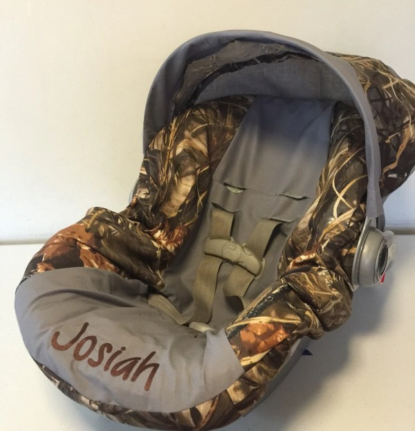 Max 4 Advantage Camo With Gray Infant Car Seat Cover