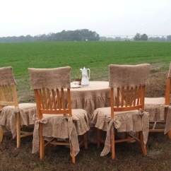 Burlap Chair Covers For Folding Chairs Walmart Student Table Cloth And