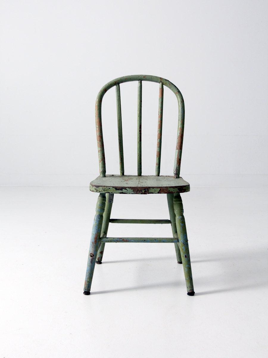 antique wood childrens chair wooden farmhouse chair