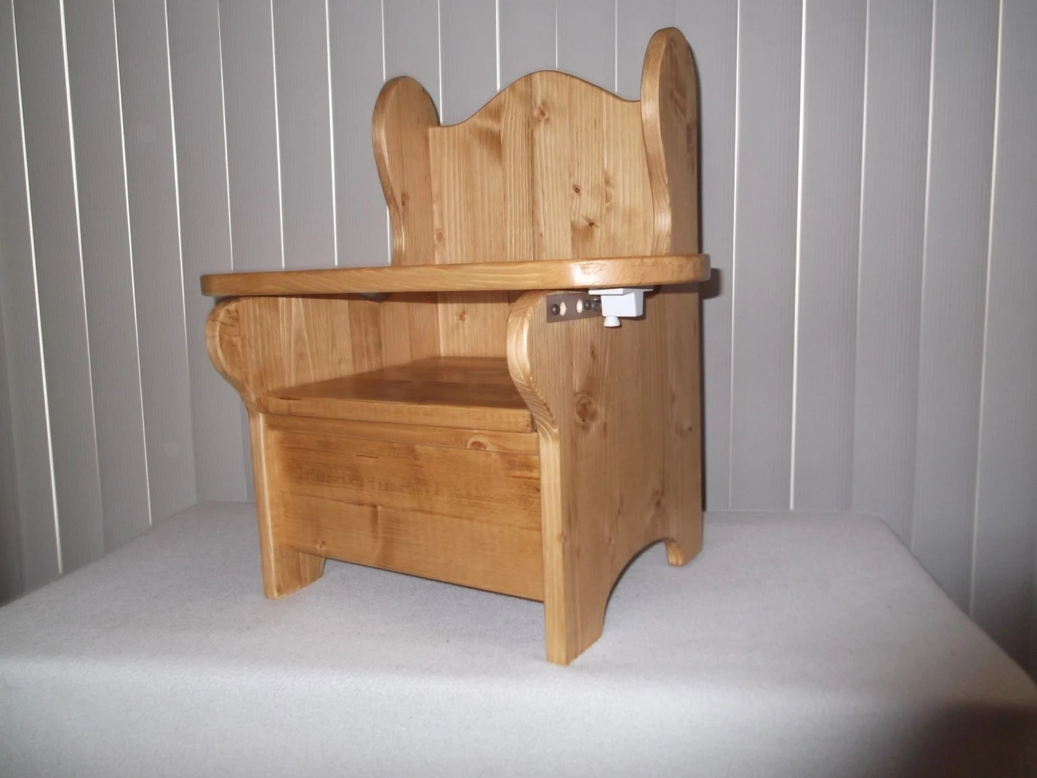 wooden potty chair neutral posture right reg size w tray by wonderwoodshop on etsy