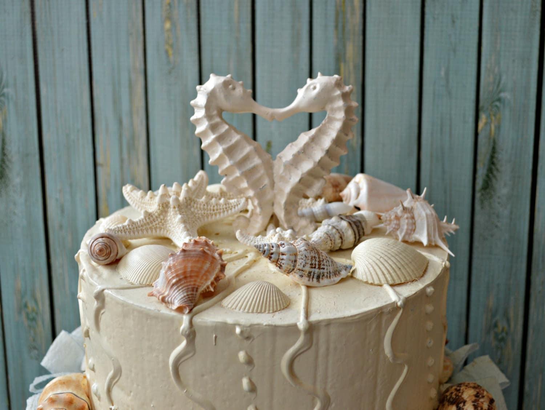 seahorseweddingcake topperdistressedkissingseahorse cake