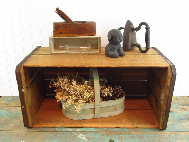 Vintage Primitive Box Storage Box Stackable Box