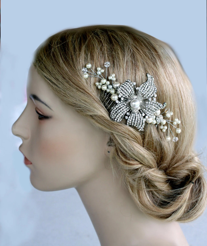 Wedding Hair Etsy Bridal Comb Wedding Jewelry Hair