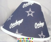NFL Dallas Cowboys Fabric Lamp Shade 10 Sizes to Choose From