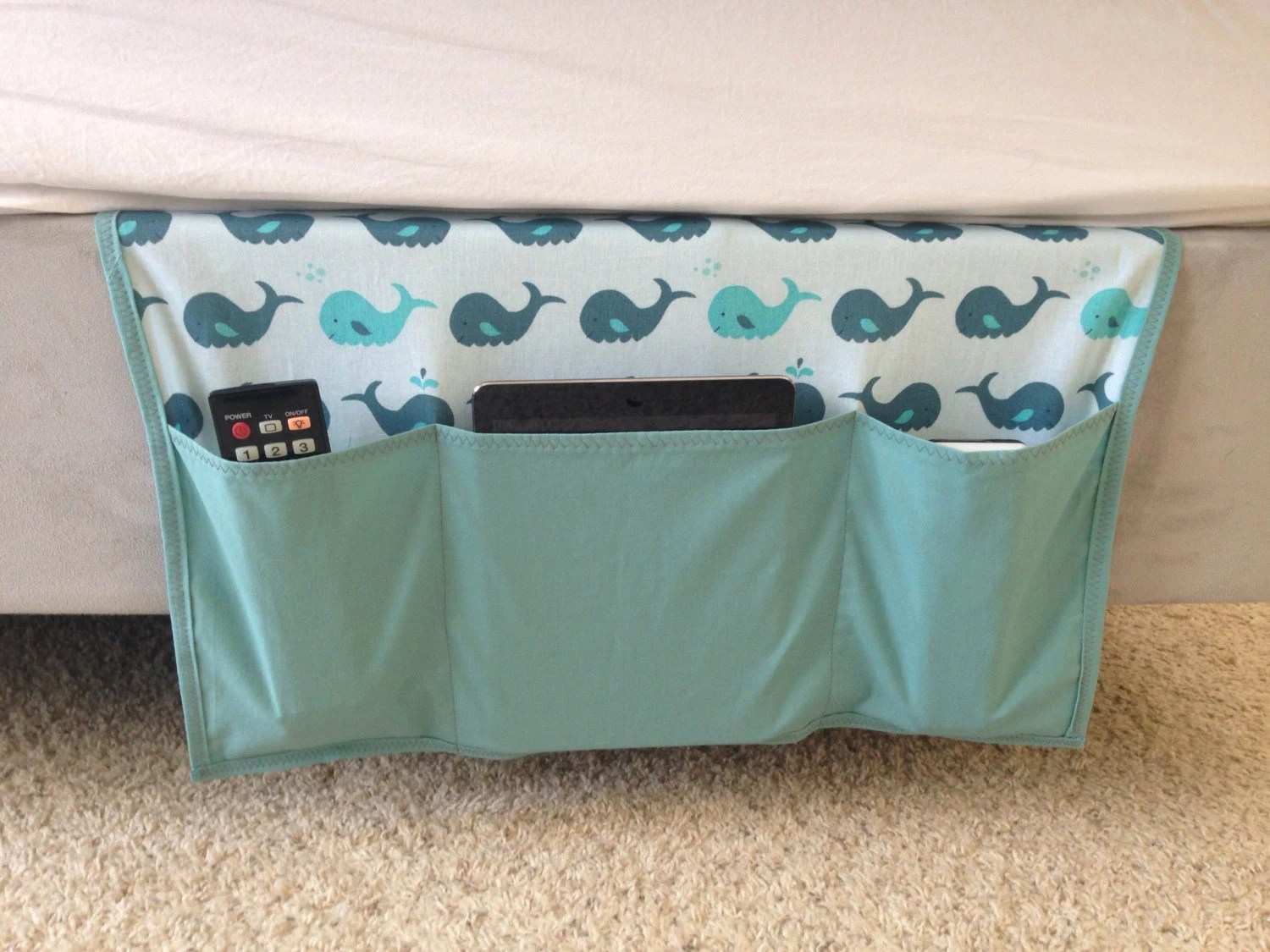 remote control holder for chair pattern wedding covers hire inverness whales bed caddy organizer bedside
