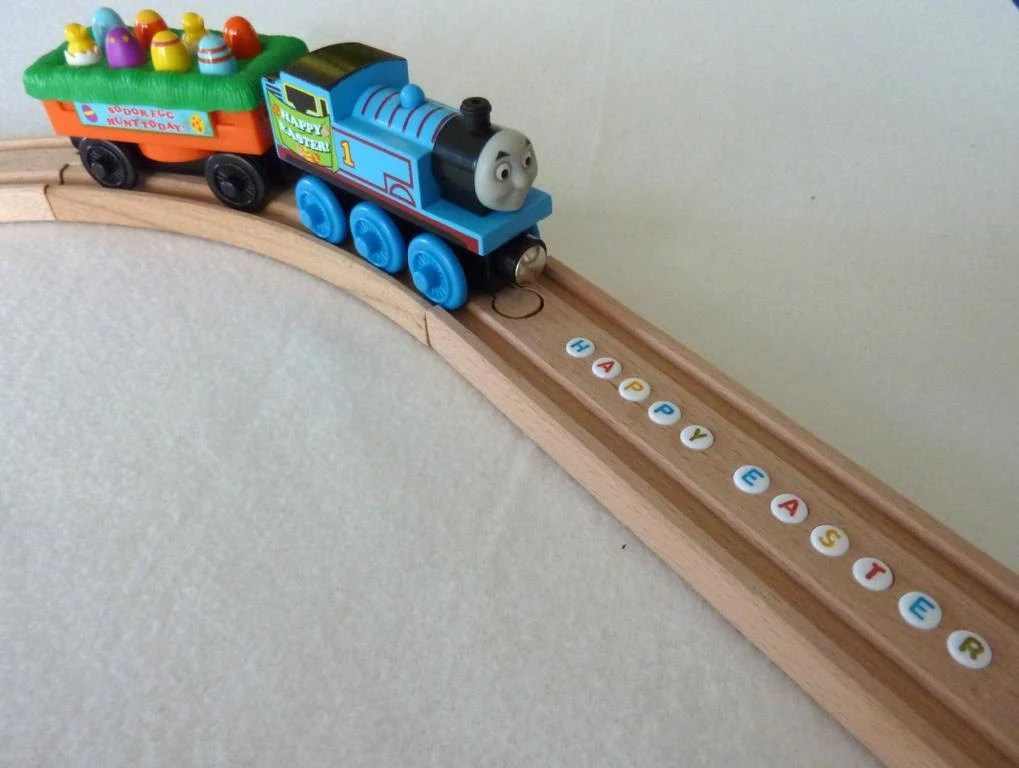 Personalized BRIO Wooden Train Track With Letter By