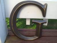 Oil Rubbed Bronze Large Initial Capital Letter Wall Decor Can