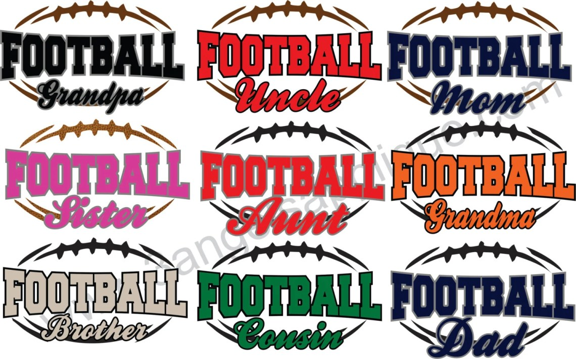 Download Football Silhouette Multi Pack SVG Cutter Design INSTANT