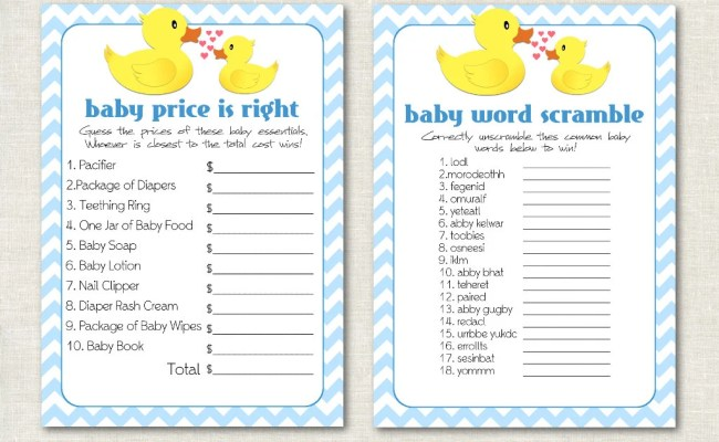 Rubber Ducky Baby Shower Games Rubber Duck Baby Shower
