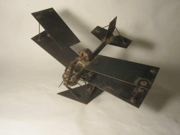 Airplane Metal Art Sculpture