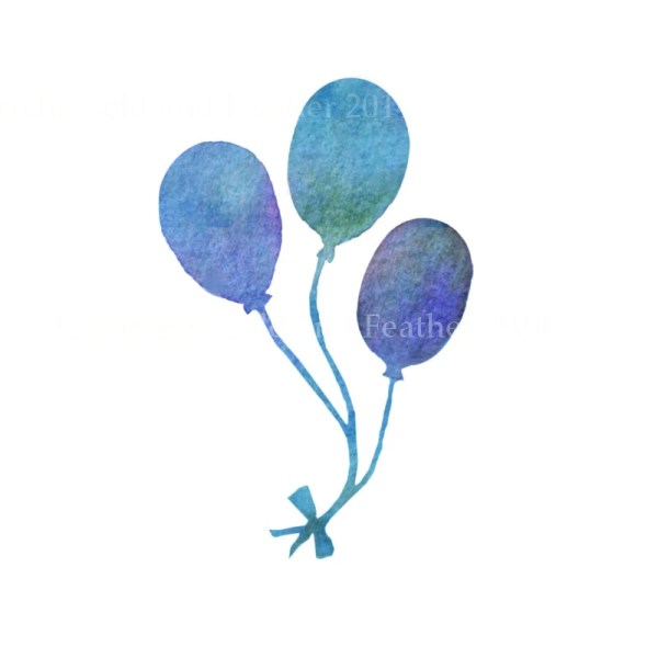 blue turquoise purple balloons