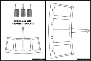 Template for Spider-Man Web Shooters from TheFoamCave on