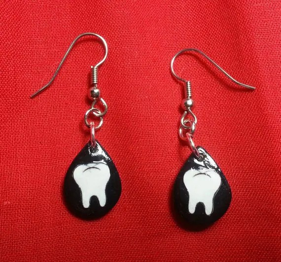 Hypo Allergenic, Molar, Tear Drop Earings
