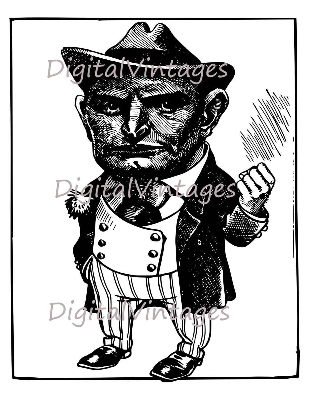 Classic Gangster S Illustration Antique By Digitalvintages