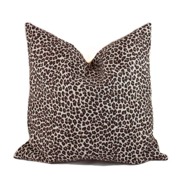 Leopard Pillow 18x18 Animal Print Decorative