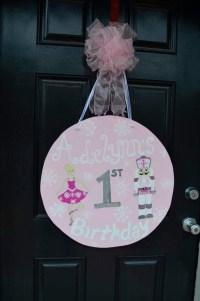 Items similar to Ballerina Nutcracker Wooden Door Hanger ...