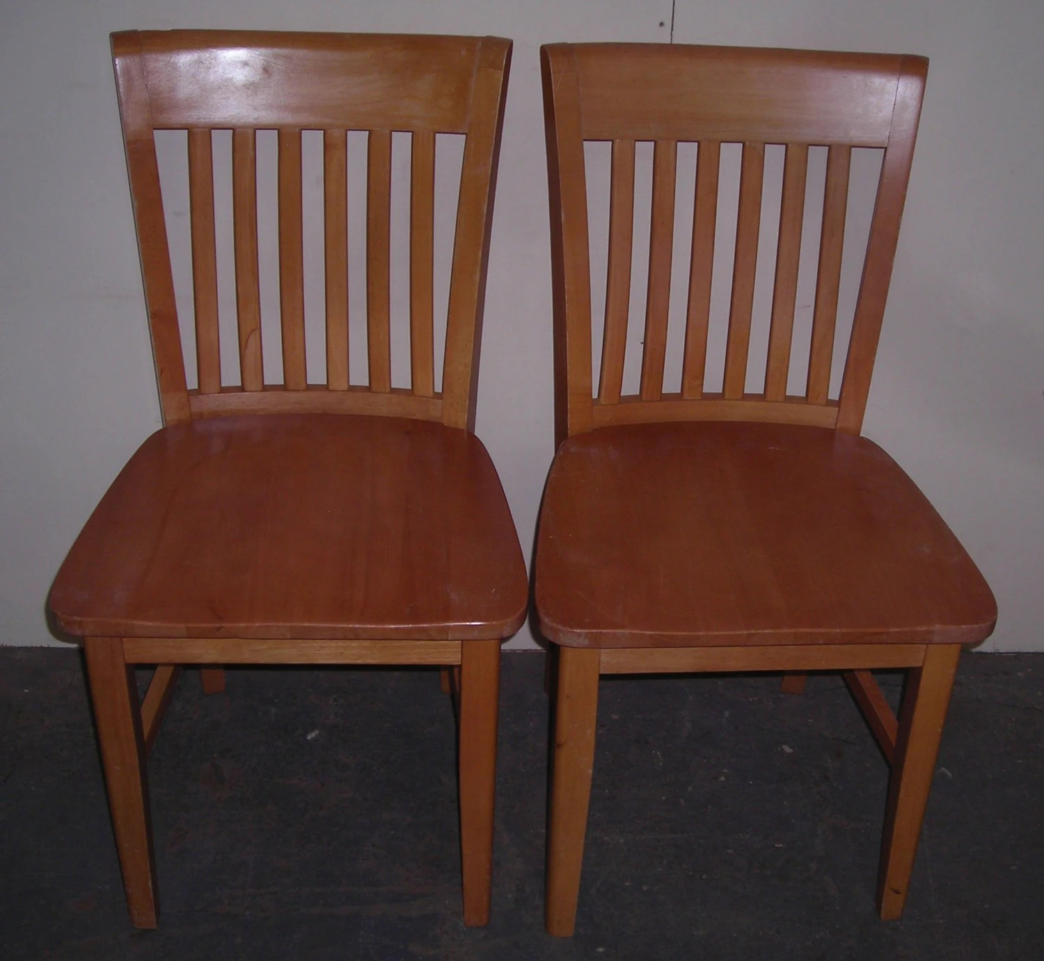 solid oak pressed back chairs and stools matching pair of dining with fabric