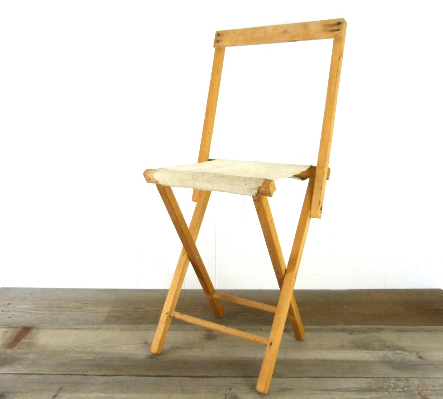 wood camp chair office light stand vintage and canvas folding