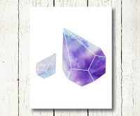 geometric watercolor wall art blue purple download prism art