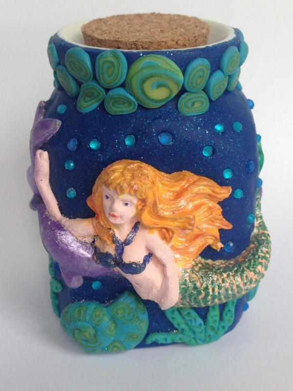 Mermaid Ceramic Jar