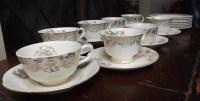 Vintage Tea cups bulk 8 tea cups saucers cake plates