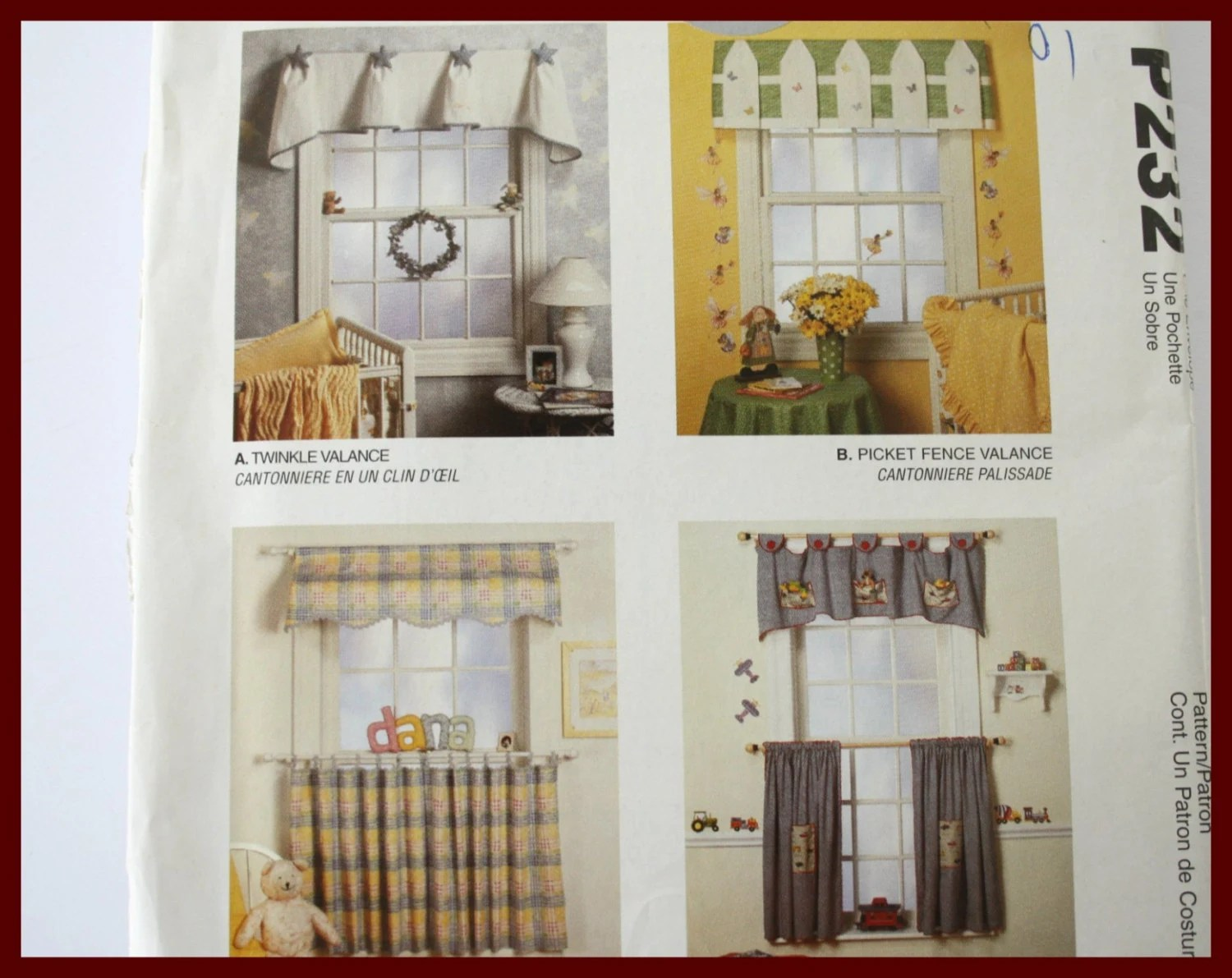 Window Valances Sewing Pattern For Baby By