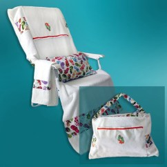 Beach Chair Cover Fuzzy Saucer That Converts To A Or Pool Tote Bag Fits