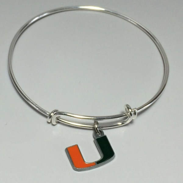 Miami Hurricanes Alex And Ani Inspired Bracelet